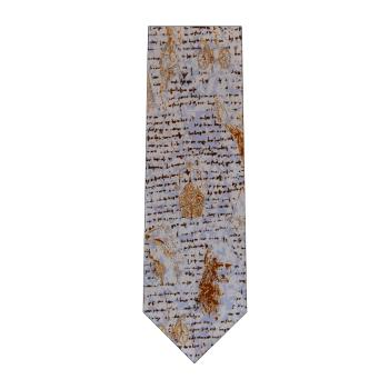 men - TIES - Printed Da Vinci Celeste