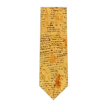 men - TIES - Printed Da Vinci Crema