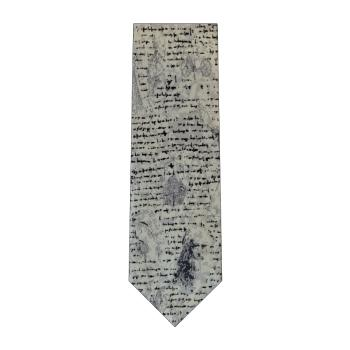 men - TIES - Printed Da Vinci Grigio