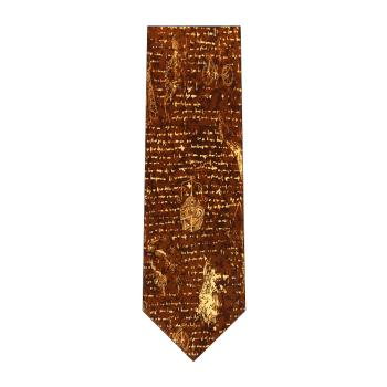 men - TIES - Printed Da Vinci Marrone