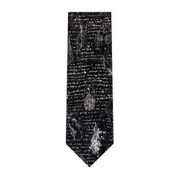 men - TIES - Printed Da Vinci Nero