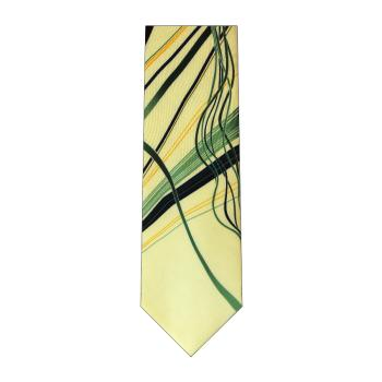 men - TIES - Printed Orlando Verde Crema