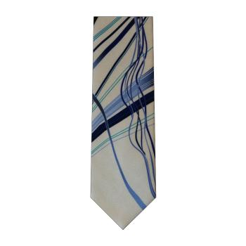 men - TIES - Printed Orlando Grigio Blu