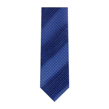 men - TIES - Pleated Borchia Blu