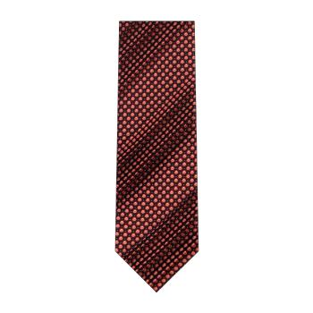 men - TIES - Pleated Borchia Rosso