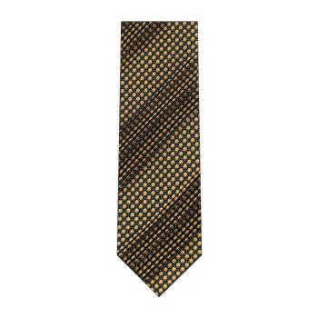 men - TIES - Pleated Borchia Marrone