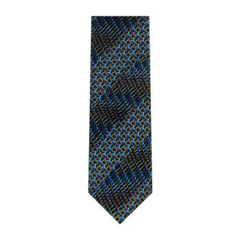 men - TIES - Pleated Anello Blu