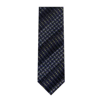 men - TIES - Pleated Staffa Blu
