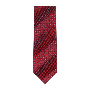 men - TIES - Pleated Staffa Rosso