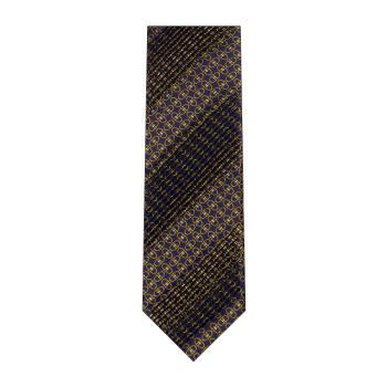men - TIES - Pleated Staffa Blu Oro