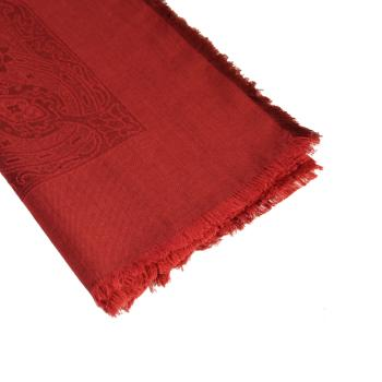 women - SQUARES - 140x140 WOOL SILK CASHMERE Ducato Rosso