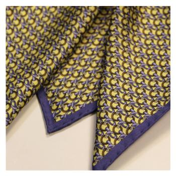 men - POCKET SQUARES - Hand Rolled AA0010OM Pochette in twill di seta 33 x 33 cm Made in Italy. Orlato a Mano.