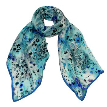 women - SCARVES AND LONG SCARVES - 45x180 Silk BF0003FF Fiore Provenzale
