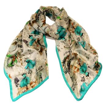women - SCARVES AND LONG SCARVES - 45x180 Silk BF2012BA Ballerine