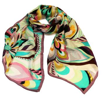 women - SCARVES AND LONG SCARVES - 45x180 Silk BF9588KR Arco iris