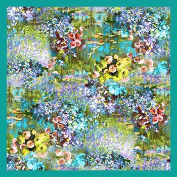 DONNA - FOULARD - 90x90 Raso BP89117AZ Monet Colorato