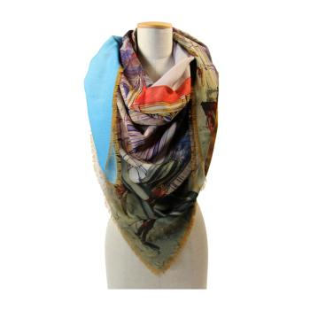 women - SQUARES - 140X140 WOOL DC8037 Gran foulard in lana 140 x 140 cm Made in Italy