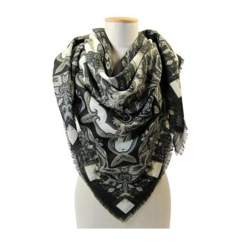 women - SQUARES - 140X140 WOOL Gran foulard in lana 140 x 140 cm Made in Italy