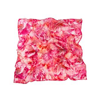 women - SQUARES - Devore MC0001VY Gran Foulard in Seta e Velluto, 140 x 140 cm . 50% Seta/50%Viscosa . Made in Italy