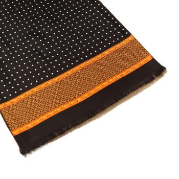 men - SCARVES - Silk lined in wool SE006LP Sciarpa Pois Doppia Stampa