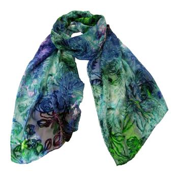 women - SCARVES AND LONG SCARVES - Devorè Sciarpa in seta viscosa e poliammide 45 x 180 cm Made in Italy