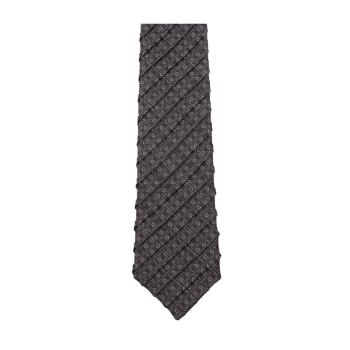 men - TIES - Pleated TI0002PLUNI Cravatta in Doppio Plisse di Seta. Made in Italy.