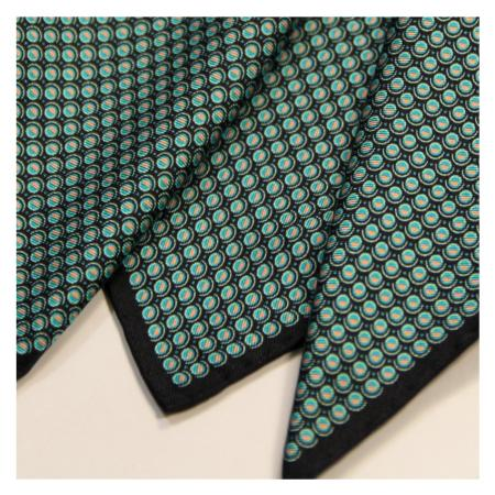 men - POCKET SQUARES - Hand Rolled AA0013OM Pochette in twill di seta 33 x 33 cm Made in Italy. Orlato a Mano.