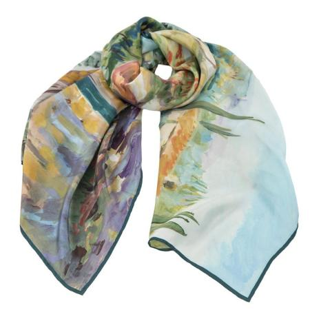 women - SCARVES AND LONG SCARVES - 70x180 Silk Crepe BD8029MK0 Campagna Toscana