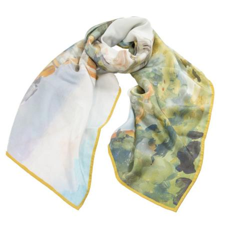 women - SCARVES AND LONG SCARVES - 70x180 Silk Crepe BD8030 Campagna Fiorentina