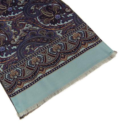 men - SCARVES - Silk lined in wool SE003LP Sciarpa Caravaggio Doppia Stampa