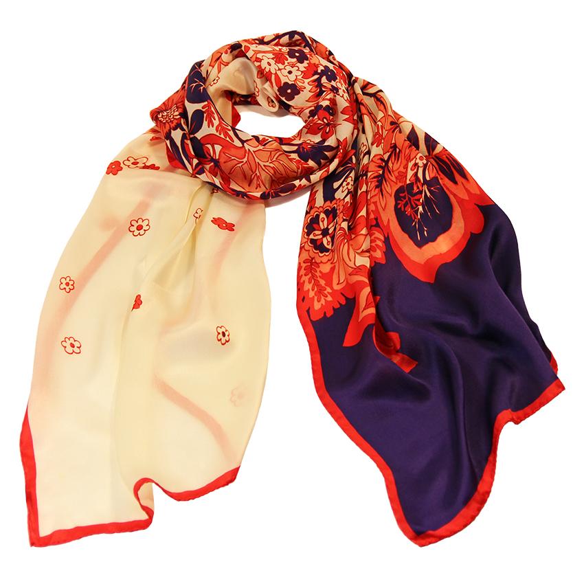 Sciarpe 45x180 Seta Rosso Pioggia Donna Blu Sciarpa UdPRwUp