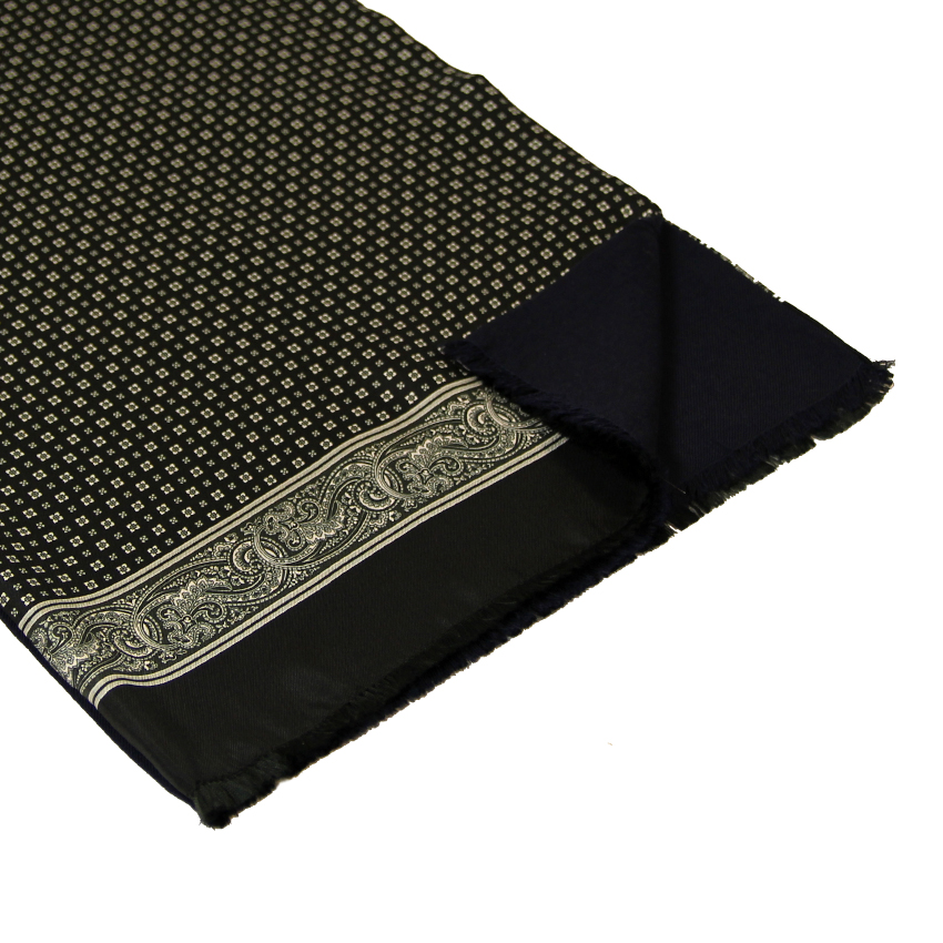 men - SCARVES - Silk lined in wool Amedeo Nero