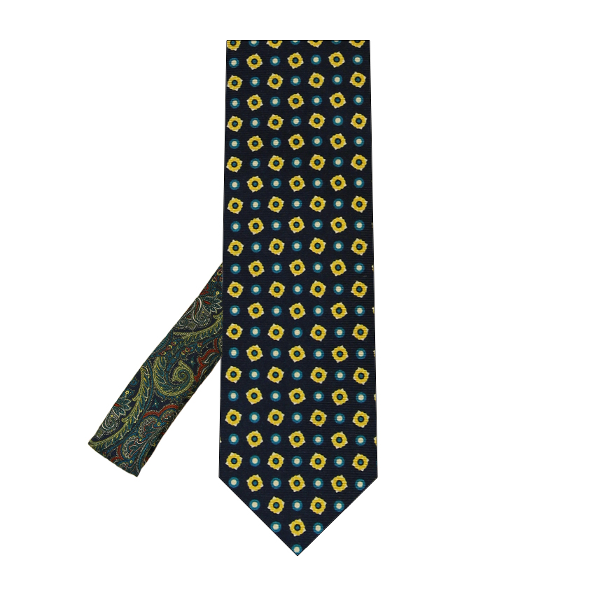 men - TIES - Printed Palacodino Aristotele Blu Oro