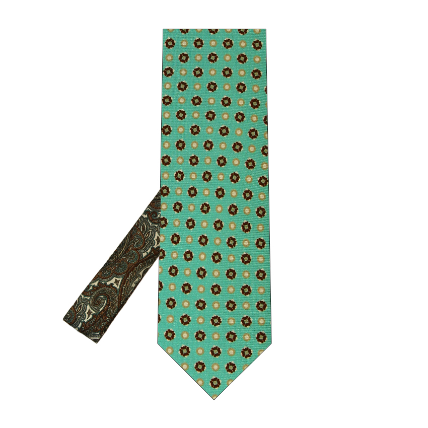 men - TIES - Printed Palacodino Aristotele Turchese