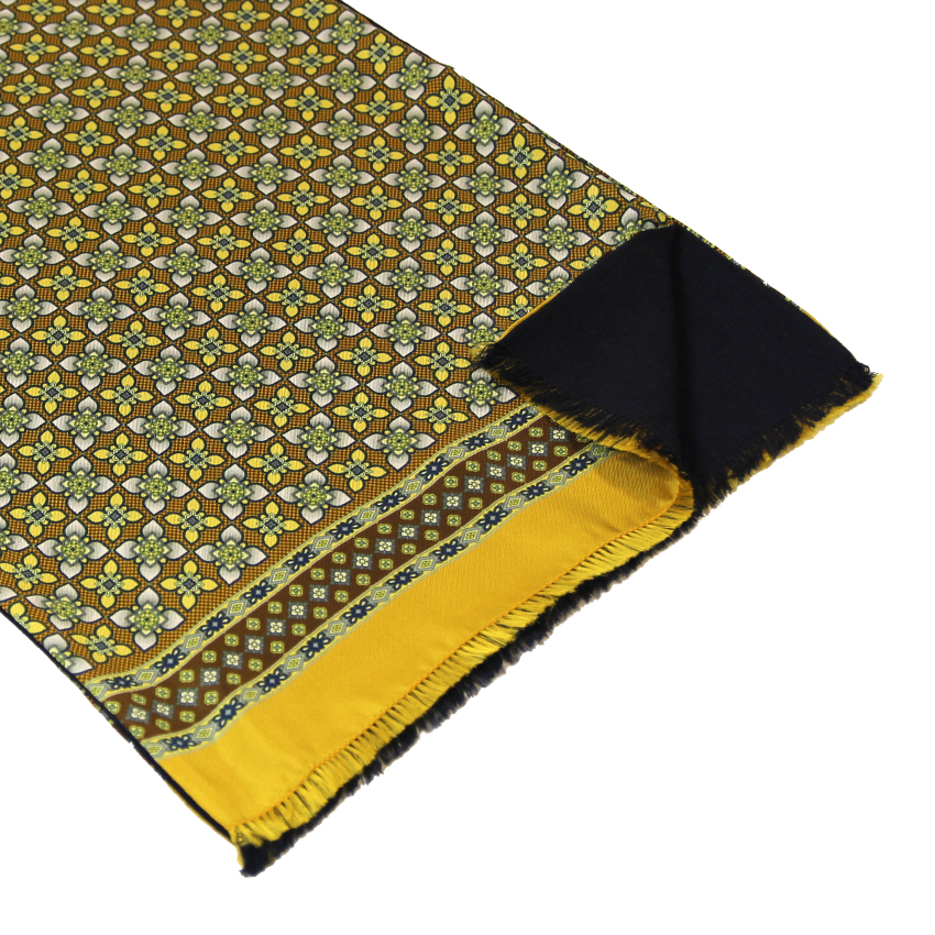 men - SCARVES - Silk lined in wool Artemisia Giallo