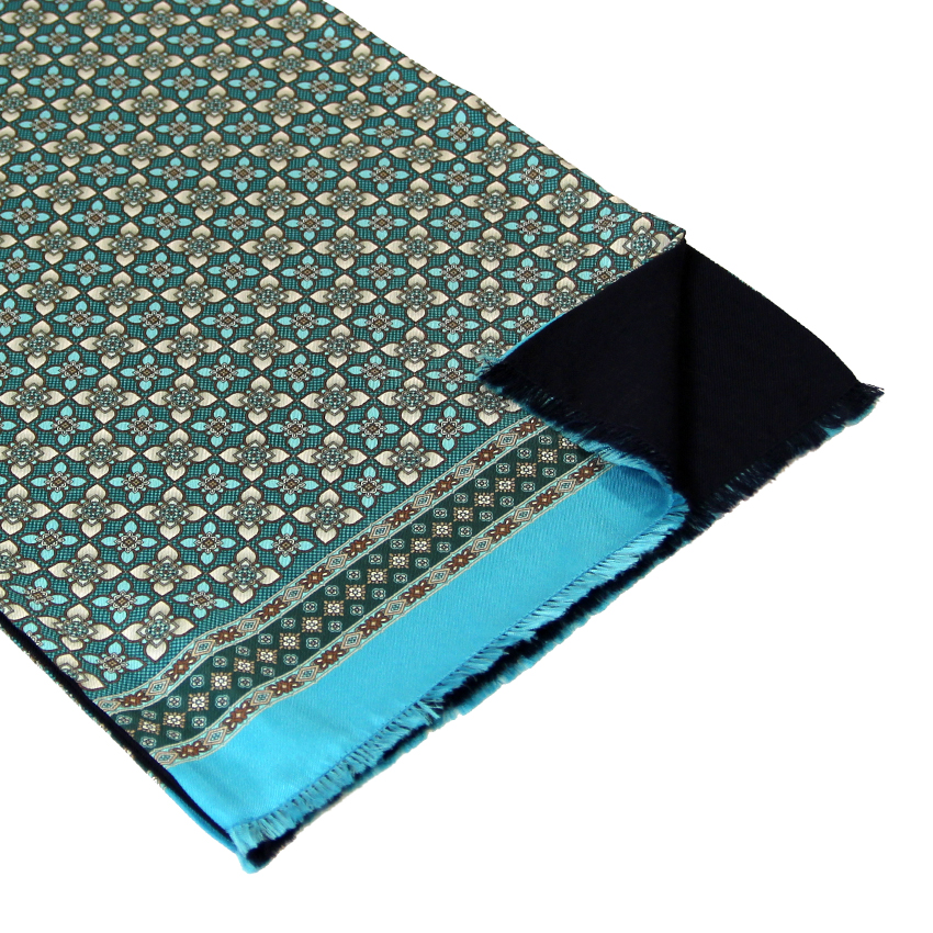 men - SCARVES - Silk lined in wool Artemisia Turchese