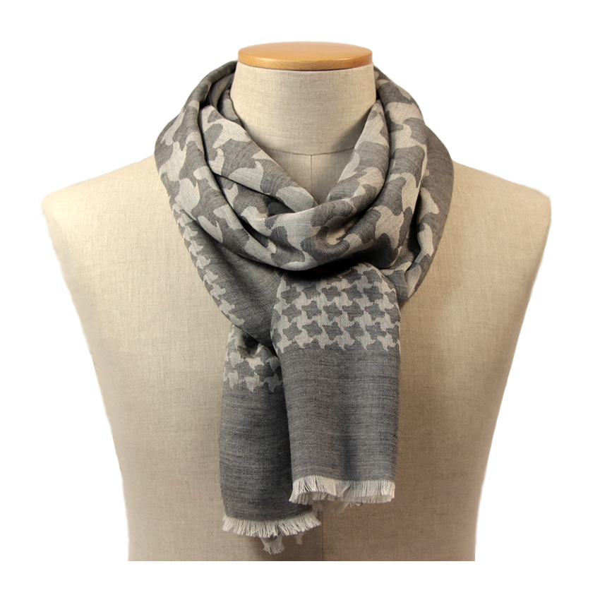 women - SCARVES AND LONG SCARVES - 70x200 wool cashmere silk Ascanio Grigio