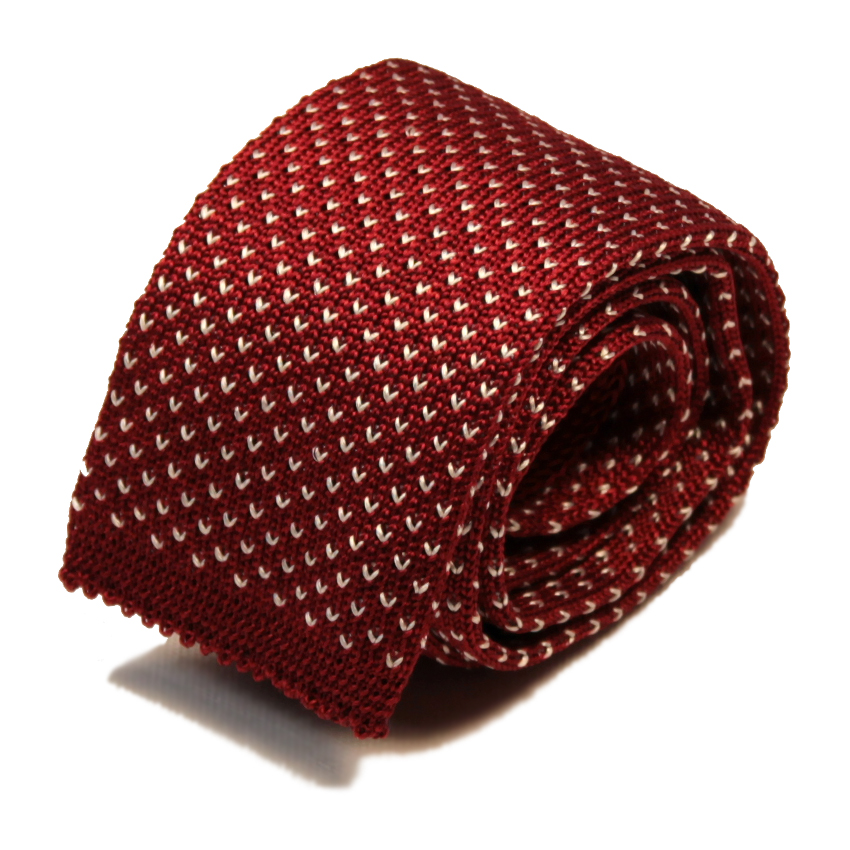 men - TIES - KNITTED Augusto Bordeaux