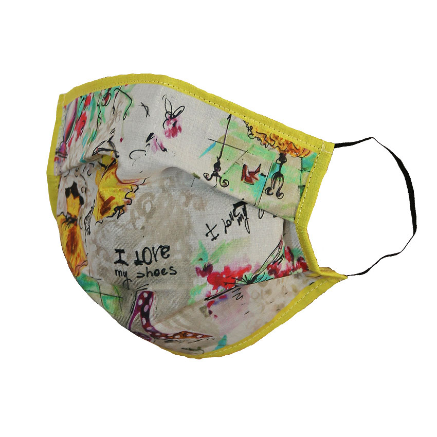women - Face Mask BALLERINE GIALLO Giallo