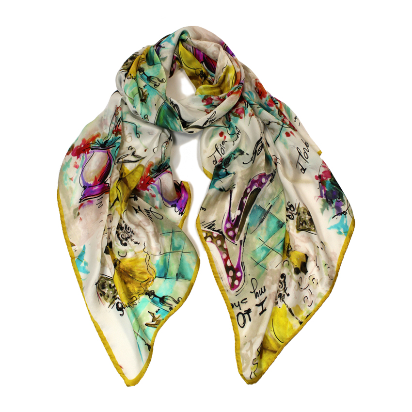 women - SCARVES AND LONG SCARVES - 70X180 SILK Ballerine giallo