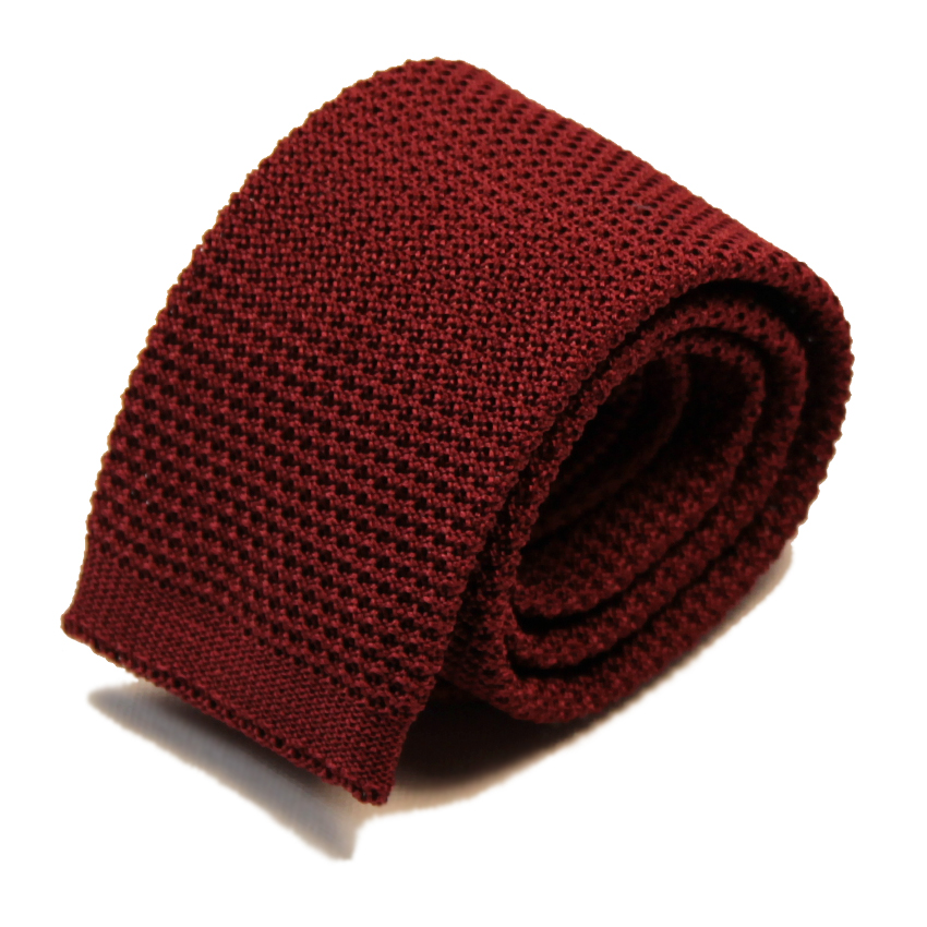 men - TIES - KNITTED Cesare Bordeaux