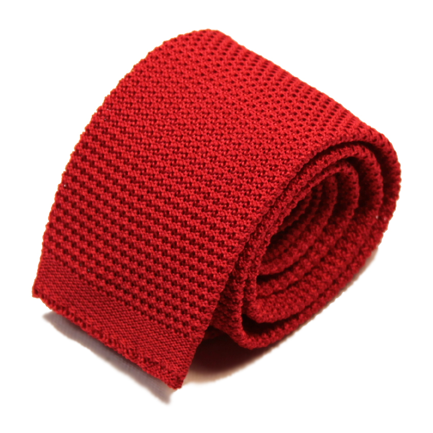 men - TIES - KNITTED Cesare Rosso