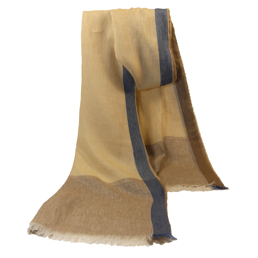 women - SCARVES AND LONG SCARVES - 80x200 Linen Colombina Beige
