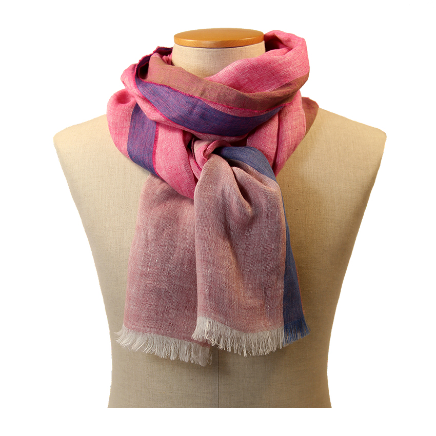 women - SCARVES AND LONG SCARVES - 80x200 Linen Colombina Rosa