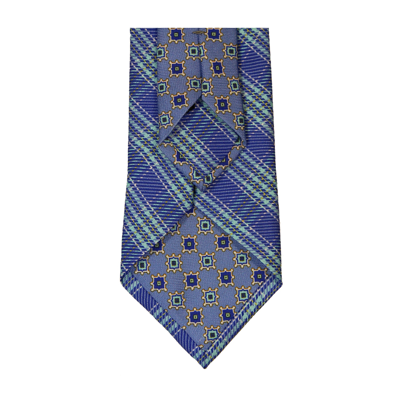 men - TIES - Printed Palacodino Diogene Azzurro