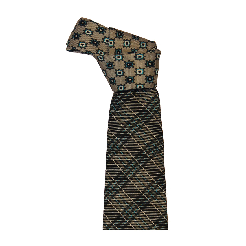 men - TIES - Printed Palacodino Diogene Grigio
