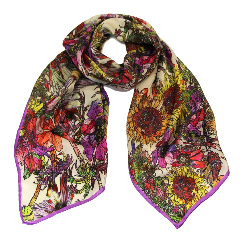 women - SCARVES AND LONG SCARVES - 45x180 Silk Elianto Fucsia