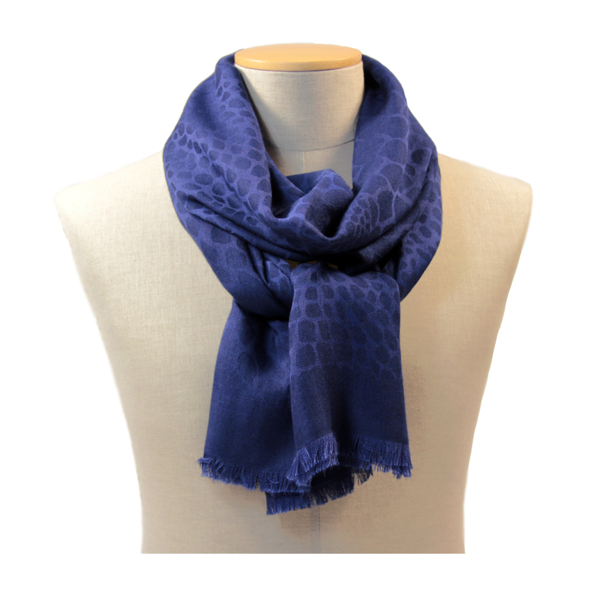 women - SCARVES AND LONG SCARVES - 70x200 wool cashmere silk Enea Blu