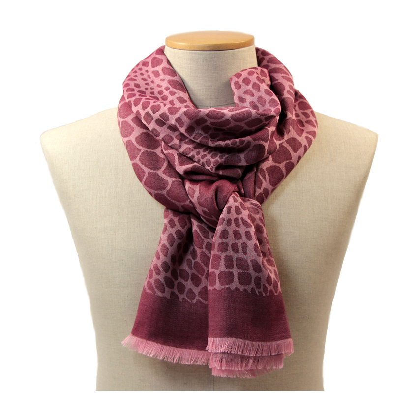 women - SCARVES AND LONG SCARVES - 70x200 wool cashmere silk Enea Bordeaux