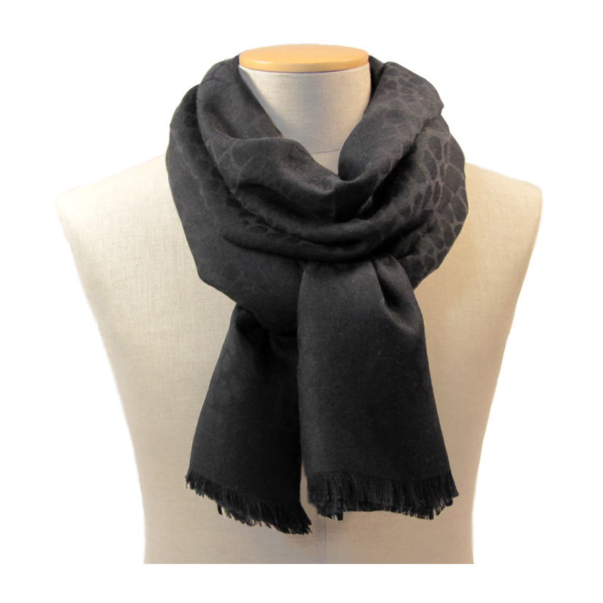 women - SCARVES AND LONG SCARVES - 70x200 wool cashmere silk Enea Nero